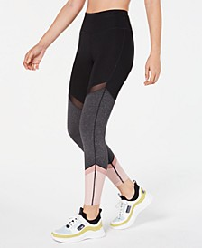 Colorblocked Mesh-Trimmed Leggings