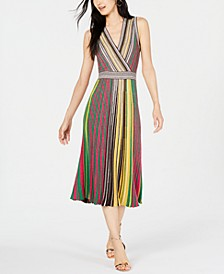 INC Vertical-Stripe Sweater Dress, Created for Macy's