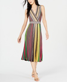 I.N.C. Vertical-Stripe Sweater Dress, Created for Macy's