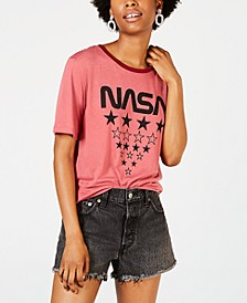 Juniors' NASA Graphic Ringer T-Shirt