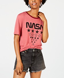 Freeze 24-7 Juniors' NASA Graphic Ringer T-Shirt