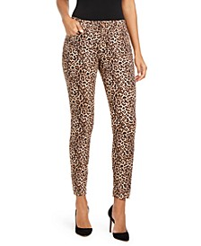 INC INCEssential Leopard-Print Curvy-Fit Skinny Jeans, Created for Macy's