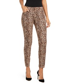 I.N.C. INCEssential Leopard-Print Curvy-Fit Skinny Jeans, Created for Macy's