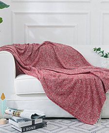 Cheer Collection Ultra Soft Knit Throw Blanket with Decorative Fringes