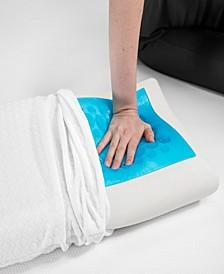 Gel-Overlay Memory Foam Comfort Bed Pillow