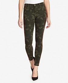 Skinny Hidden Message Camo Jeans