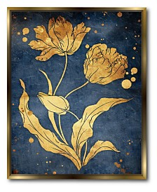 Courtside Market Floral Canvas Wall Art with Float Moulding