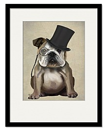 English Bulldog, Formal Hound and Hat Framed and Matted Art Collection