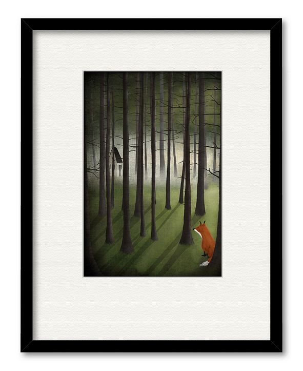 """Courtside Market Winter Land 16"""" x 20"""" Framed and Matted Art"""