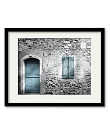 Vintage Façade Framed and Matted Art Collection