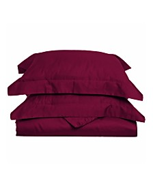 Superior 650 Thread Count Cotton Solid Duvet Set - Full/Queen