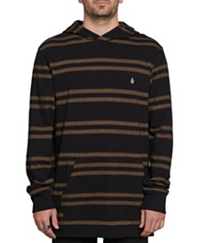 Volcom Men's Tehas Stripe Hooded T-Shirt