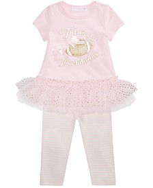 Bonnie Baby Baby Girls Tutus And Touchdowns Top & Leggings Set