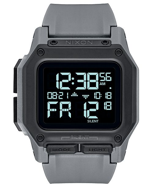 Nixon Men's Digital Regulus Strap Watch 46mm
