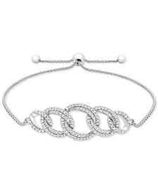 Diamond Link Bolo Bracelet (1/2 ct. t.w.) in Sterling Silver