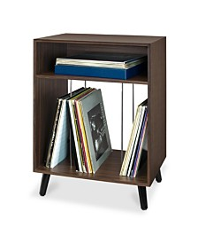 Victrola's Entertainment Stand with Record Holder