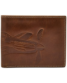 Fossil Men's Danny Embossed Leather Wallet