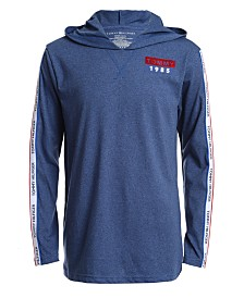 Tommy Hilfiger Big Boys Logo-Tape Hooded T-Shirt