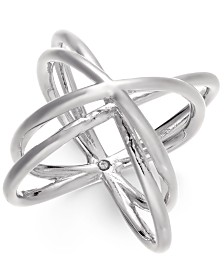 Alfani Silver-Tone Orbital Ring, Created for Macy's