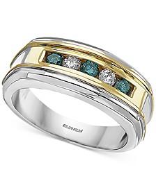 EFFY® Men's Diamond Ring (1/2 ct. t.w.) in 14k Gold & White Gold