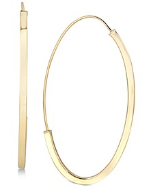 Threader Hoop Earrings in 14k Gold