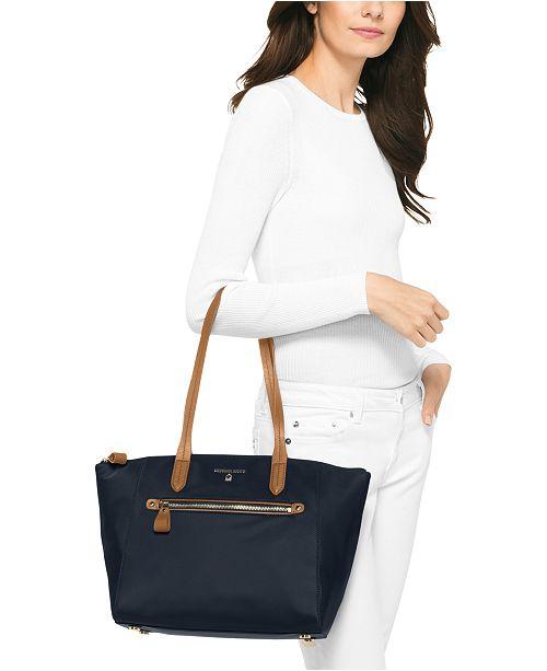 8151b7f8da98 Michael Kors Kelsey Medium Top-Zip Nylon Tote & Reviews - Handbags ...