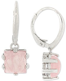 Giani Bernini Rose Quartz Drop Earrings in Sterling Silver, Created for Macy's