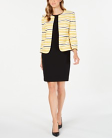 Anne Klein Striped Jacket & Sheath Dress