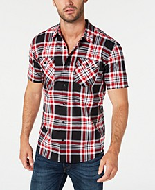 Men's Dual Pocket Plaid Shirt Shirt