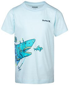 Hurley Little Boys Shark Submarine Graphic T-Shirt