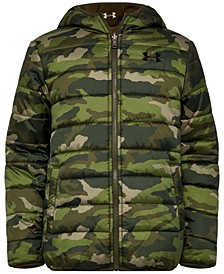 Big Boys Reversible Pronto Puffer Hooded Jacket