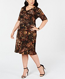 Trendy Plus Size Surplice Sheath Dress