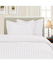 Elegant Comfort Luxurious Silky - Soft Wrinkle Free 3-Piece Stripe Duvet Cover Set, Full/Queen