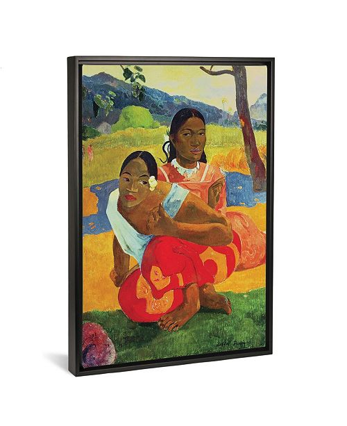 "iCanvas Nafea Faaipoipo by Paul Gauguin Gallery-Wrapped Canvas Print - 26"" x 18"" x 0.75"""