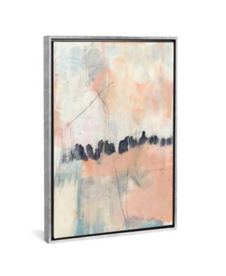 "Blush and Navy Ii by Jennifer Goldberger Gallery-Wrapped Canvas Print - 40"" x 26"" x 0.75"""