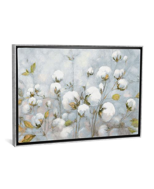 """iCanvas Cotton Field in Blue Gray by Julia Purinton Gallery-Wrapped Canvas Print - 26"""" x 40"""" x 0.75"""""""