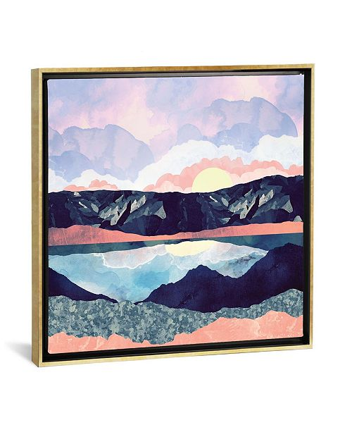 """iCanvas Lake Reflection by Spacefrog Designs Gallery-Wrapped Canvas Print - 18"""" x 18"""" x 0.75"""""""