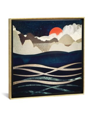 """Midnight Beach by Spacefrog Designs Gallery-Wrapped Canvas Print - 37"""" x 37"""" x 0.75"""""""