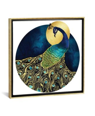"Golden Peacock by Spacefrog Designs Gallery-Wrapped Canvas Print - 37"" x 37"" x 0.75"""