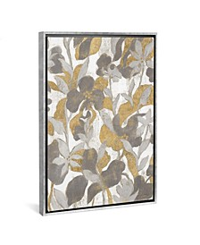 """Painted Tropical Screen Ii Gray Gold by Silvia Vassileva Gallery-Wrapped Canvas Print - 26"""" x 18"""" x 0.75"""""""
