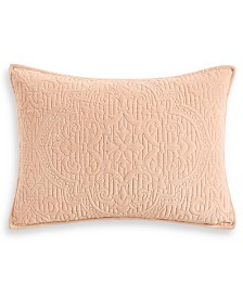 Hotel Collection Classic Roseblush Quilted King Sham, Created for Macy's