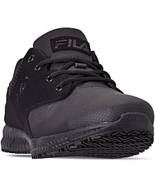 Fila Men's Memory Layers Slip-Resistant Work Sneakers from Finish Line