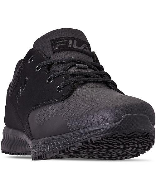 Fila Men's Memory Layers Slip-Resistant Work Sneakers from Finish Line