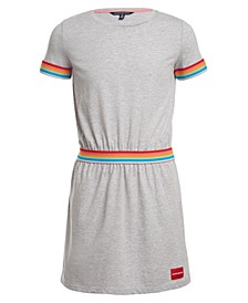 Big Girls Rainbow Stripe Dress