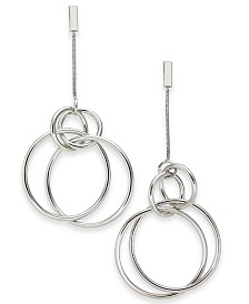 Alfani Silver-Tone Orbital Linear Drop Earrings, Created for Macy's