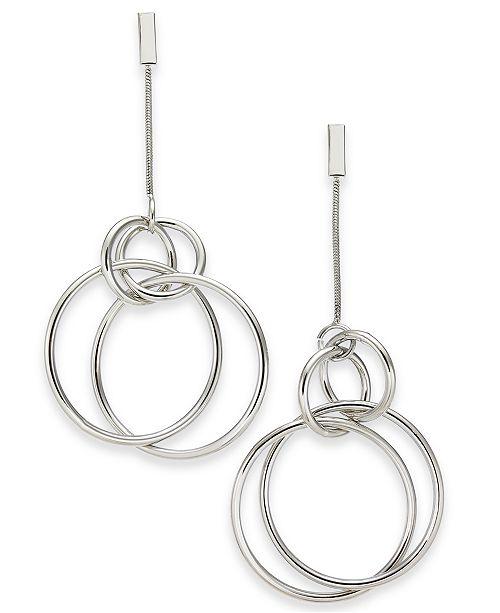 Alfani Silver-Tone Orbital Linear Drop Earrings, Created for Macy's