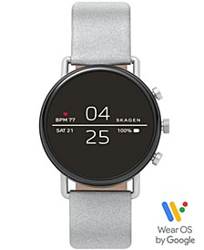 Men's Falster 2 Reflective Silver-Tone Strap Touchscreen Smart Watch 40mm, Powered by Wear OS by Google™