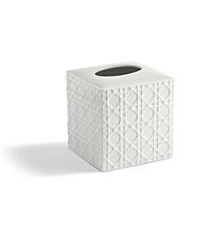 Embossed Porcelain Tissue Holder