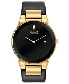 Citizen Eco-Drive Men's Axiom Black Leather Strap Watch 40mm