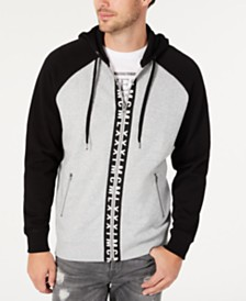 GUESS Men's Colorblocked Zip-Front Hoodie